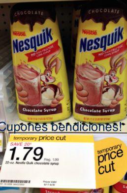 Cupones Bendiciones: Nesquik syrup en Target Gratis!!! -.7 centavos MM ...