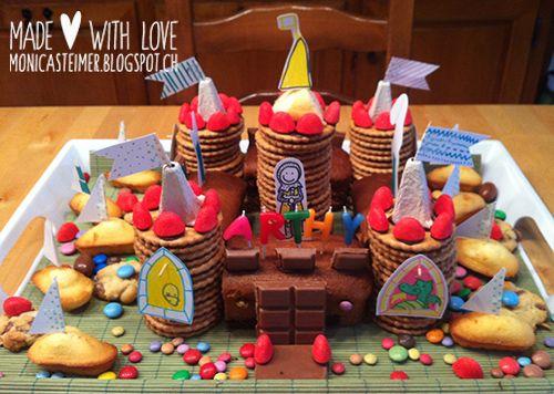 gâteau d'anniversaire château (selon Les belles histoires)