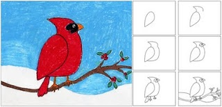Art Projects for Kids: Winter Cardinal