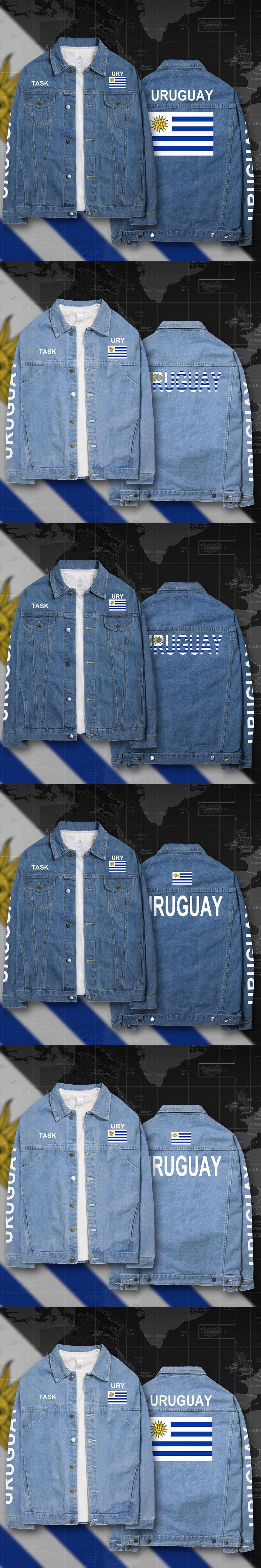 Uruguay Uruguayan URY UY denim jackets men coat men's suits jeans jacket thin jaquetas 2017 sunscreen autumn spring nation flag
