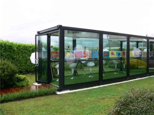 Recycled houses made using shipping containers offices recycled house and window - Container art studio ...