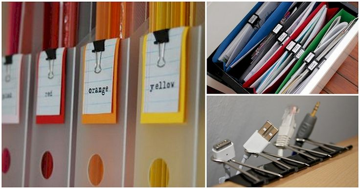 15 Binder Clip Tips And Tricks That Will Organize Your Life