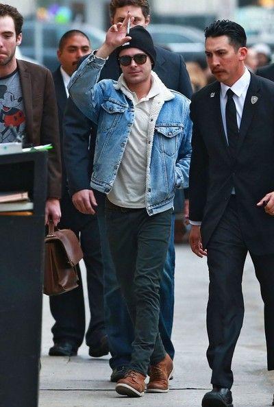 Zac Efron - Zac Efron Visits 'Jimmy Kimmel Live!'