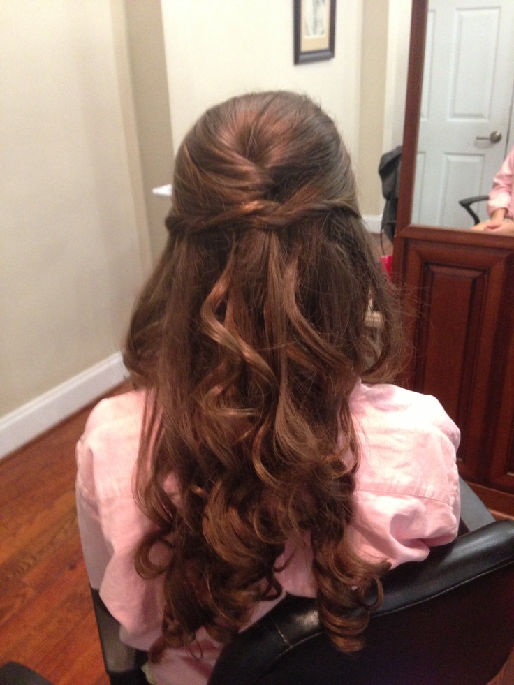 half up half down prom hair brushing pinterest prom