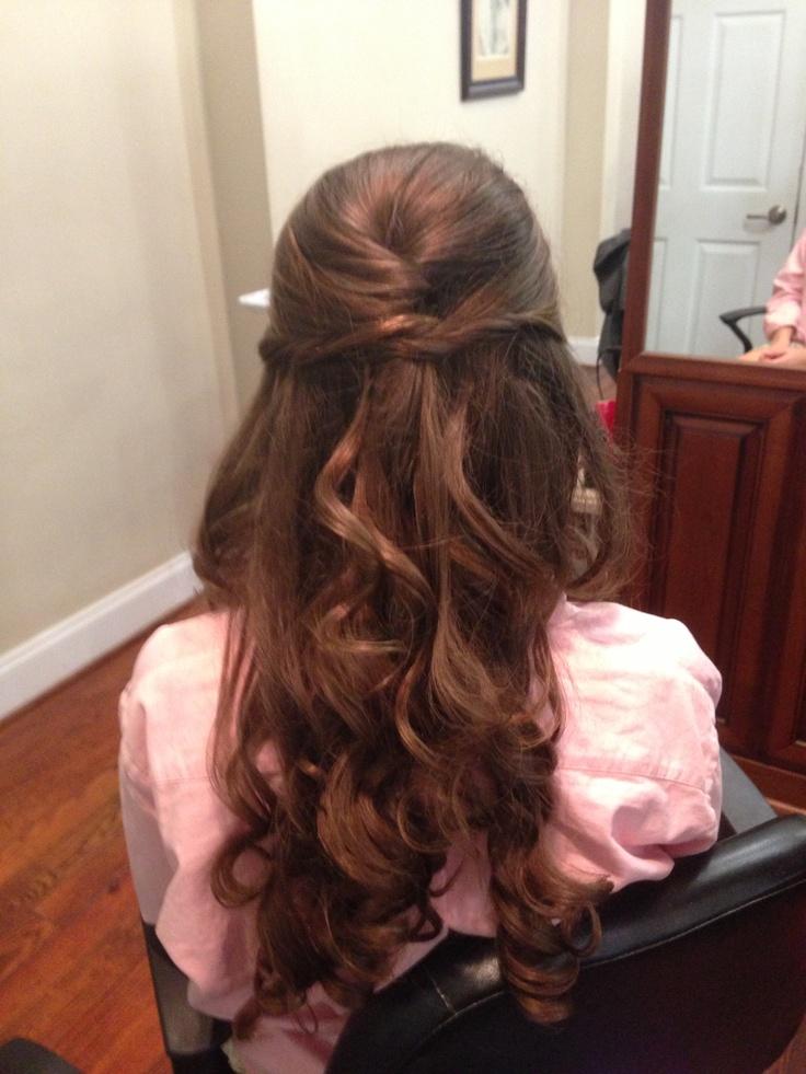 Half up, half down prom hair | Brushing | Pinterest