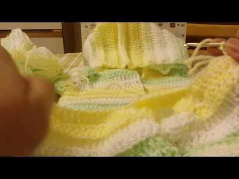 Casaco para bebe com capus 0.3 meses em croche 2 parte - YouTube