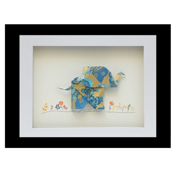 Happy elephant origami frame   hardtofind.