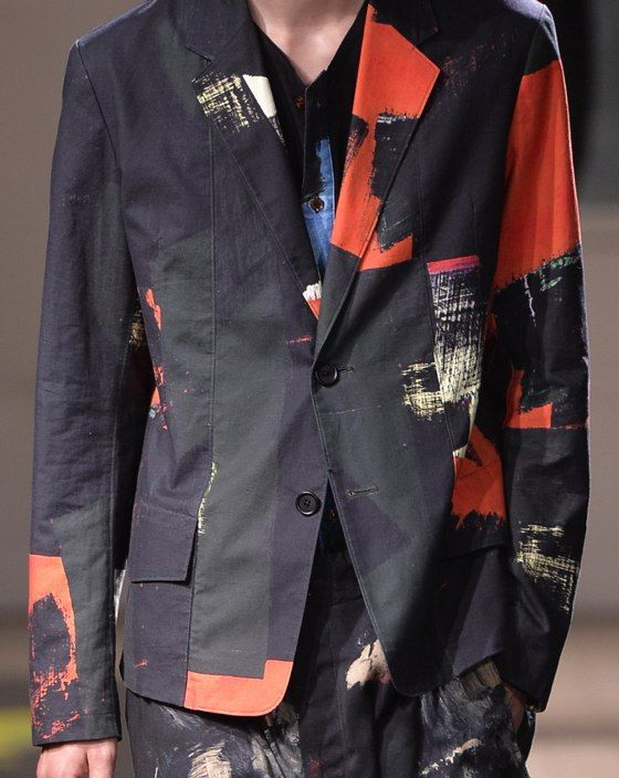 patternprints journal: PRINTS, PATTERNS, TEXTURES AND TEXTILE SURFACES FROM MENSWEAR S/S 2016 COLLECTIONS / PARIS CATWALKS Yohji Yamamoto