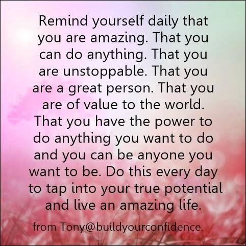 develop a daily habit of positive thinking / life quotes / build your confidence
