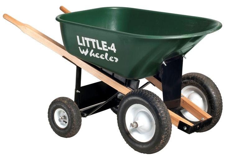 Big 4 Wheeler Heavy-Duty Wheelbarrow, 6 Cubic Feet