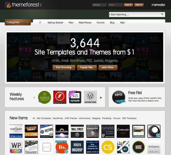 #ThemeForest - świetny serwis, na którym kupuję #szablony na strony zarówno statyczne jak i na #WordPress