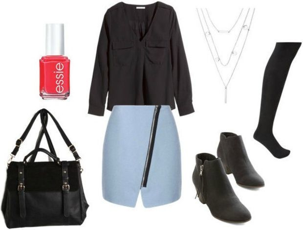 Class to Night Out: Asymmetrical Skirt