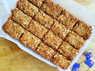 Cooking For Busy Mums: Anzac Slice Great to take camping - might make individual ones in little patty pans for the kiddies & big ones for the adults!