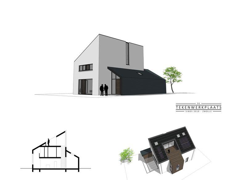 Moderne woning met lessenaarsdak en dakterras | Dunningen | De Wijk
