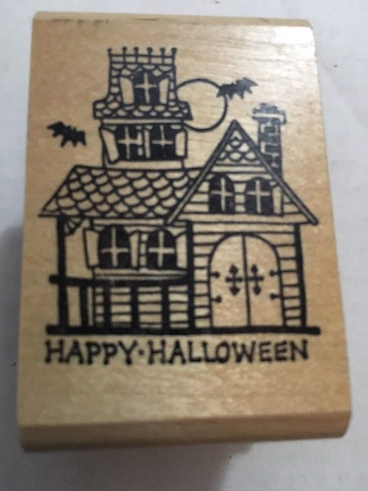 Kidstamps CAT Wearing Witch Hat Halloween Marylin Haffner 1984 Rubber Stamp