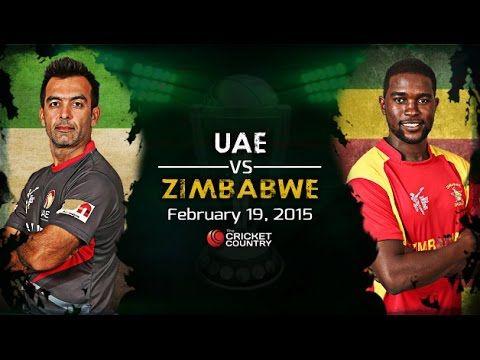 ZIMBABWE V UAE Cricket world cup 2015