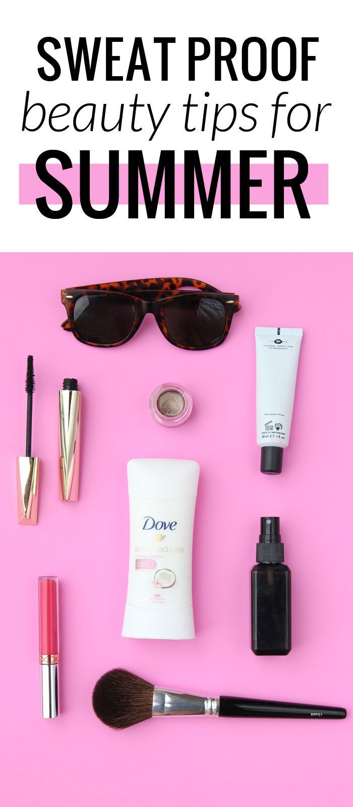 Sweat proof beauty tips for summer - keep dry, and help that makeup last longer! #EssentialUpgrade #DovePartner #pmgdove @dove