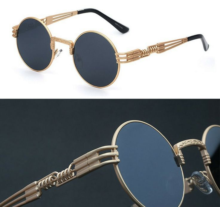CHIC Round Steampunk Sunglasses For Fashion Enthusiasts Vintage Victorian Style #Round