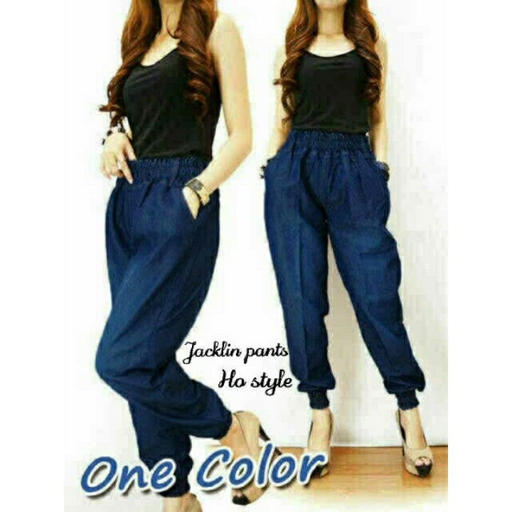 sf0011  _20 Jacklin Pants, bahan jeans washed,fit L besar,, 88.000 IDR (sf).