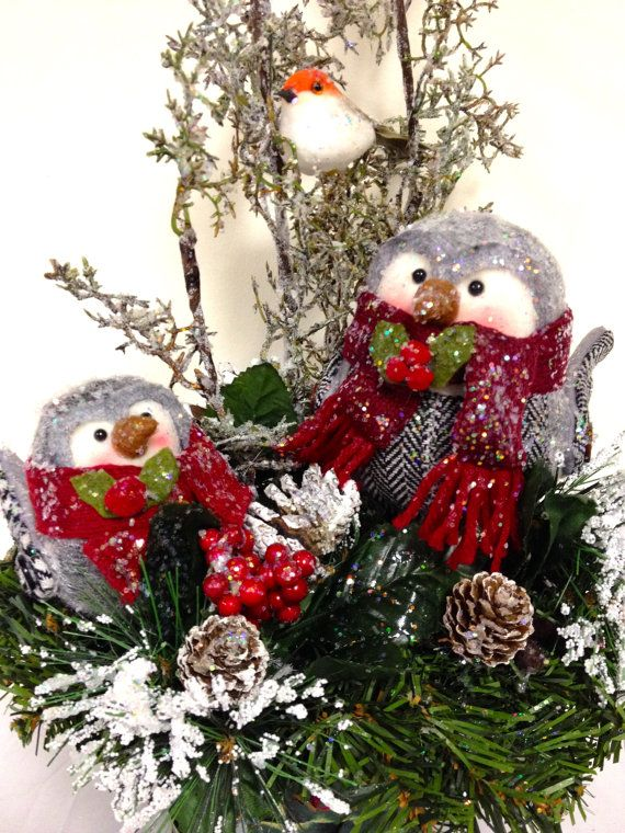 Sold just listed new owl babies holiday christmas table