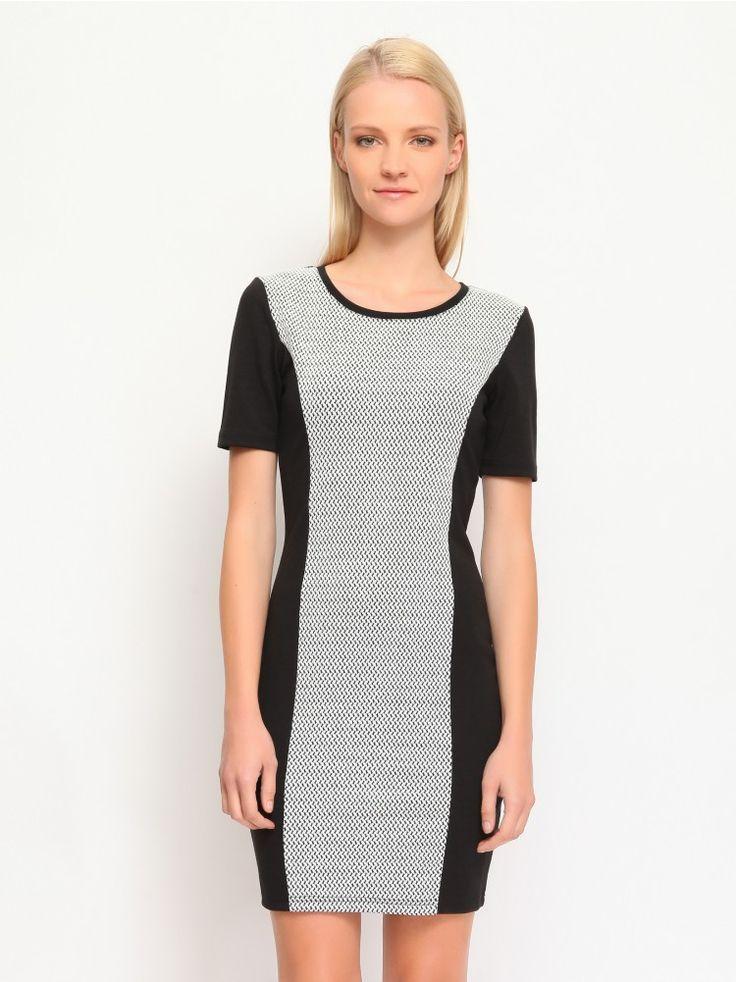 Φόρεμα με print στο μπροστινό μέρος.  Χρώμα: Μαύρο.
