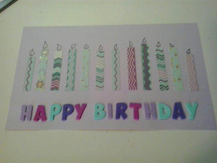Biglietto compleanno con candeline