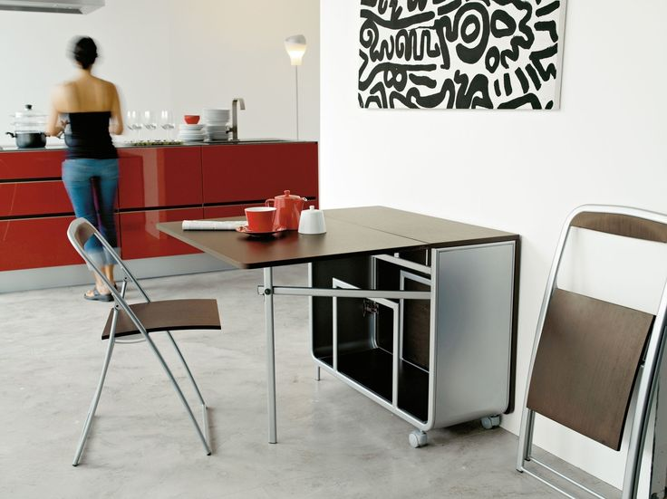 Beau Modern Portable Folding Dining Table With Wheels And
