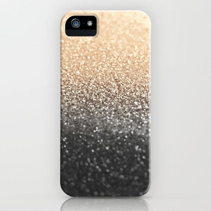 GOLD BLACK iPhone & iPod Case by Monika Strigel