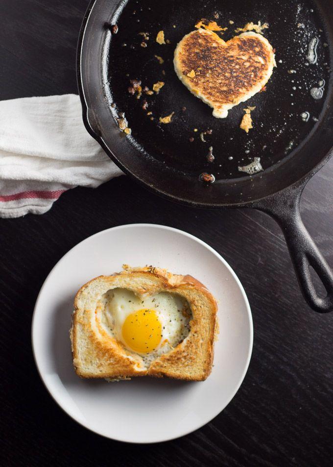 Egg in a Grilled Cheese Basket   Happy Friday | http://www.gingerandtoastedsesame.com/egg-grilled-cheese-basket-happy-friday/
