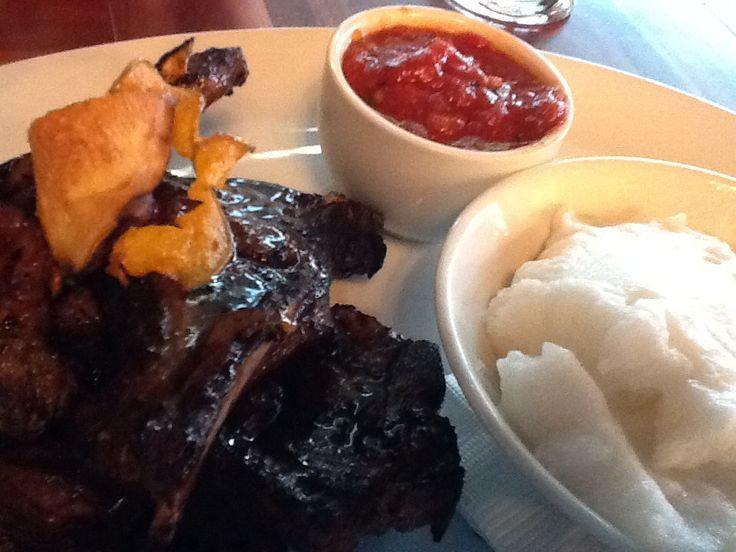 Karoo Cattle and Lamb chops & pap