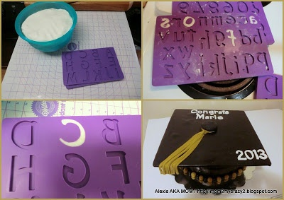 how to make a graduation cap out of fondant