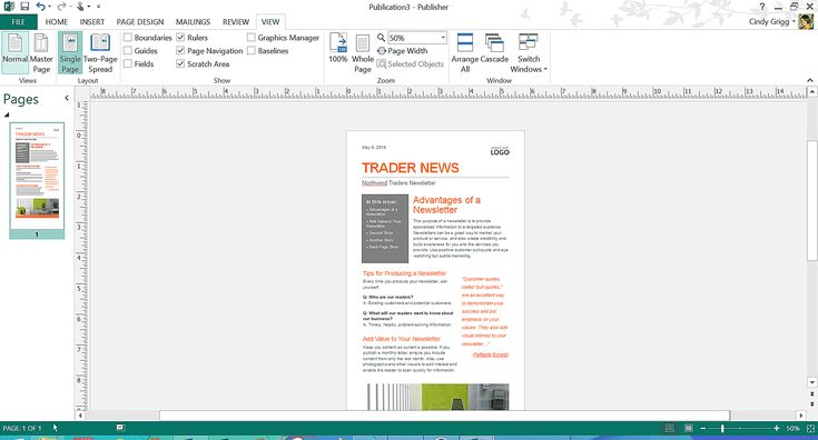 Free Microsoft Office Templates for Writers, Authors, and Bloggers: Email Newsletter Template or Printable for Microsoft Publisher