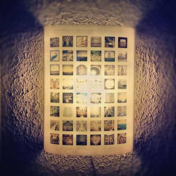 Weekend project : Decorative Instagram Lamp by pomelox http://instagram.com/p/HrL9vymee1/  Print version: http://printsgram.com/show.php?id=7396