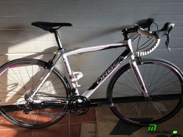 Bicicleta de carretera orbea aqua talla s con cambio desviador bielas compac 50-34 y manetas shimano sora puentes freno orbea 450€ tel 635984507 bikes outlet nestor