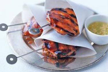 Ginger and chilli chicken skewers