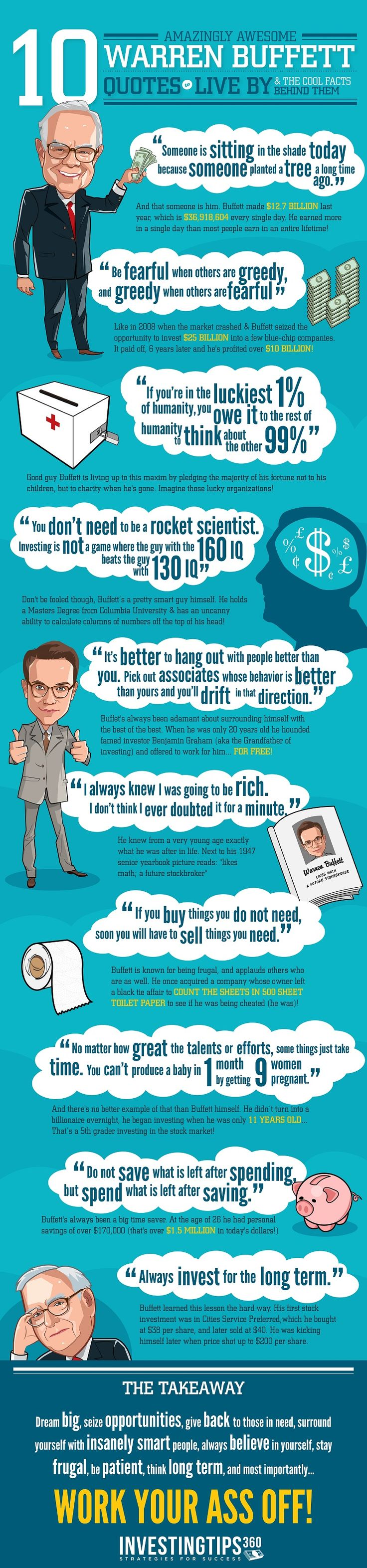10 Amazingly Awesome Warren Buffett Quotes to Live By   #infographic #Quotes #trading Found @stigghhh26  http://www.tradingprofits4u.com/