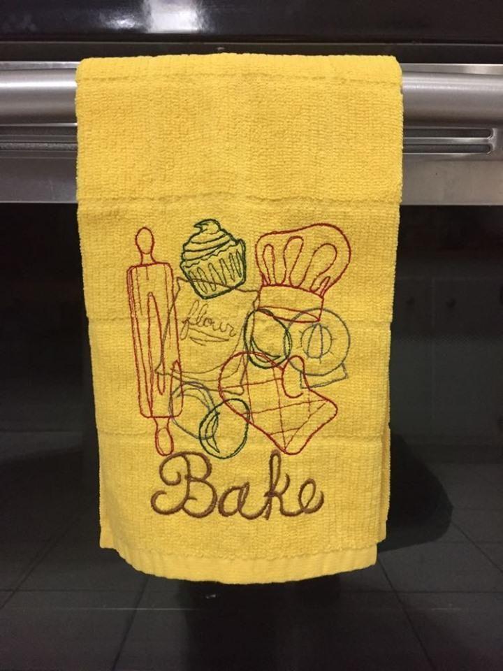 kitchenaid dish towels yellow