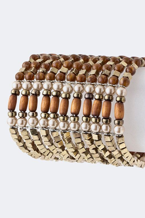 The multi-colored urban styled fashionista bracelet is great for a day at work, or an evening event. www.Glamgirljewels.com