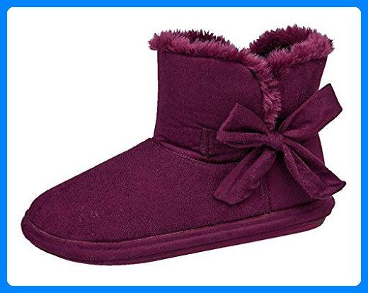 Slippers ,  Damen Durchgängies Plateau Sandalen , rot - lila - Größe: 38 - Hausschuhe für frauen (*Partner-Link)