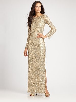 The 12 best images about gold dresses on pinterest oscar for Saks fifth avenue wedding dresses los angeles