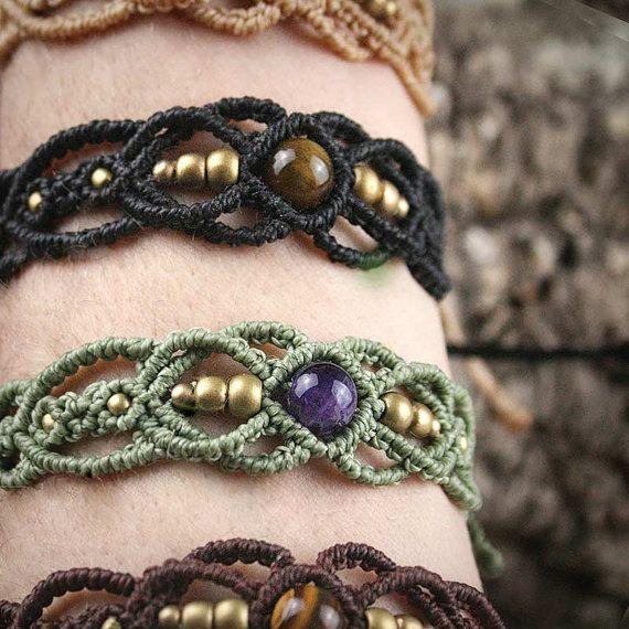 Filigree Fairy Macrame Bracelet Tribal Ethno by MacramaniaShop                                                                                                                                                                                 More