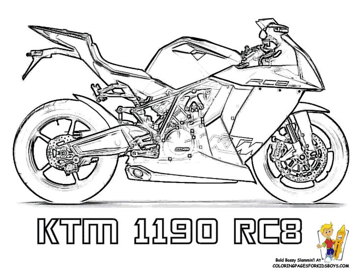 free biker coloring pages - photo#11