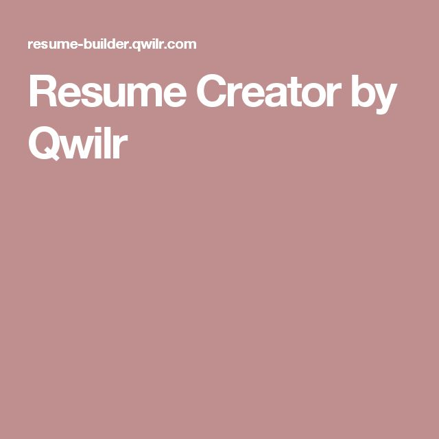 Resume Creator by Qwilr Apps \ Tools Pinterest Resume creator - resume builder companies