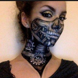 steampunk skull makeup by instagram ellie35x steampunk