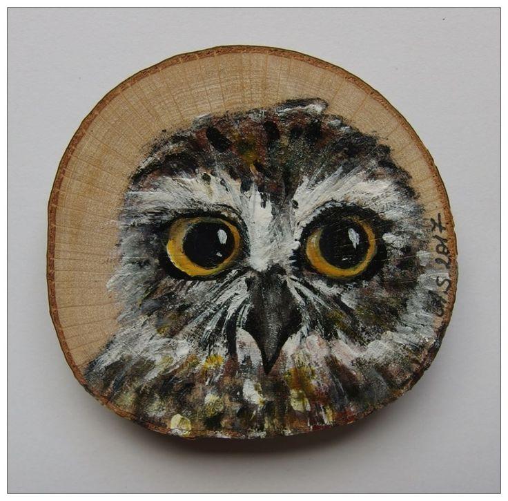 #handmade #handpainted #owl #sowa #sóweczka #ptak #bird #fridgemagnet #xantosia #reczniemalowane #drewno #wood #magnes #fridge_magnet #art #nature #gift #prezent