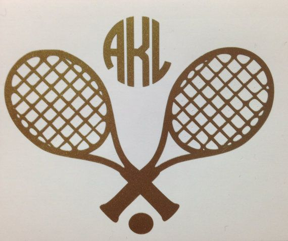 Tennis Monogram or Name Decal