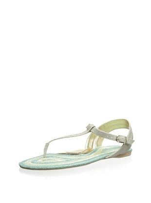 70% OFF Elaine Turner Women's Emory Thong Sandal (Metallic/Blue)