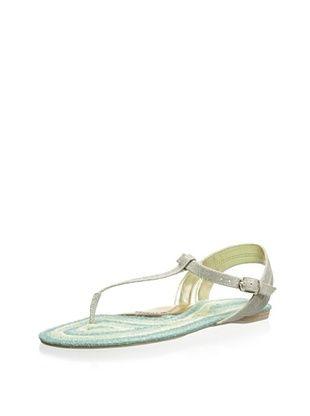 70% OFF Elaine Turner Women's Emory Thong Sandal (Metallic/Blue)