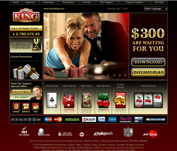 Get AU $300 #welcomebonus and multi currency banking at #CasinoKing. Read more reviews at: http://www.onlinecasinoaustraliareviews.com/casino-king.html