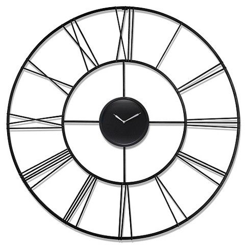 The Infinity Instruments Modern Tower is sure to make a statement in your room. Measured at 45 inches, this clean and sleek decorative wall clock is a definite conversation piece. The silver hands against an all black face and black welded metal add to the simplistic style of this modern clock. Let the Modern Tower accurately tell time for you and leave a lasting impression for your guests.